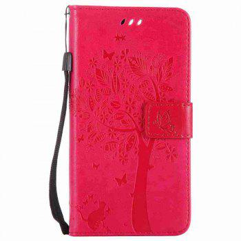 Embossed Cat and Tree PU TPU Phone Case for One Plus Five - ROSE MADDER