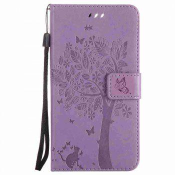 Embossed Cat and Tree PU TPU Phone Case for One Plus Five - RADIANT