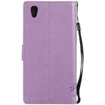 Embossed Cat and Tree PU TPU Phone Case for Sony E6 / L1 - RADIANT
