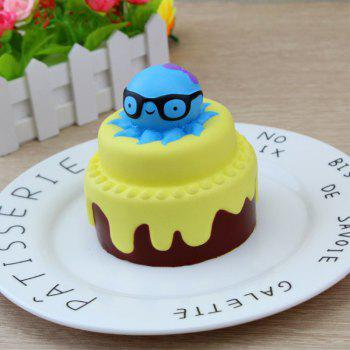 Slow Rising Squishy Toy Octopus and Cake - YELLOW YELLOW