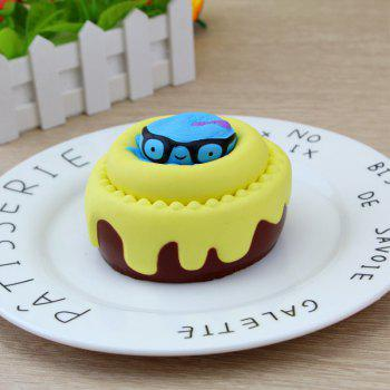 Slow Rising Squishy Toy Octopus and Cake -  YELLOW