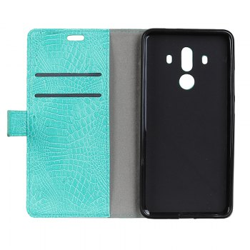 Wkae Retro Crocodile Pattern Business Leather Case for Huawei Mate 10 Pro - GREEN