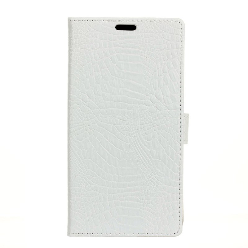 Wkae Retro Crocodile Pattern Business Leather Case for Huawei Mate 10 Pro - WHITE