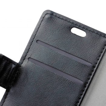 Wkae Vintage Crazy Leather Case for Huawei Mate 10 Pro - BLACK