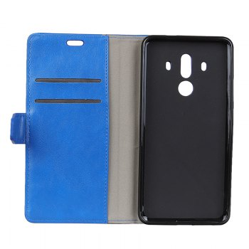 Wkae Vintage Crazy Leather Case for Huawei Mate 10 Pro - BLUE