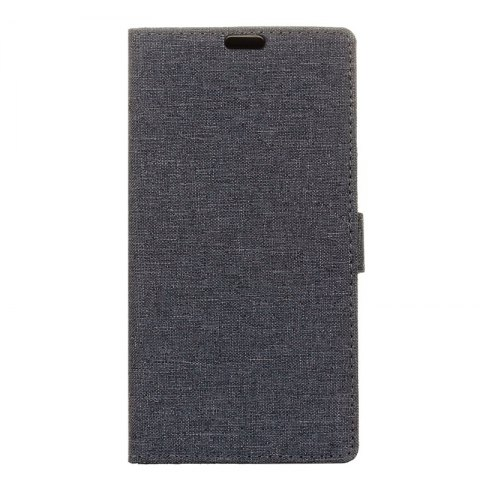 Wkae Solid Color Linen Texture Holster Case for Huawei Mate 10 Pro - BLACK