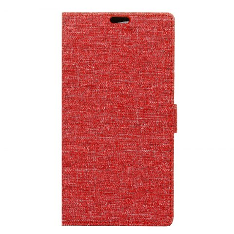 Wkae Solid Color Linen Texture Holster Case for Huawei Mate 10 Pro - RED