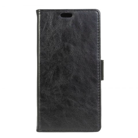 Wkae Vintage Crazy Leather Case for Huawei Mate 10 - BLACK