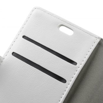 Wkae Vintage Crazy Leather Case for Huawei Mate 10 - WHITE