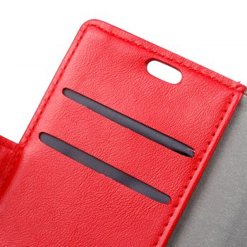 Wkae Vintage Crazy Leather Case for Huawei Mate 10 - RED