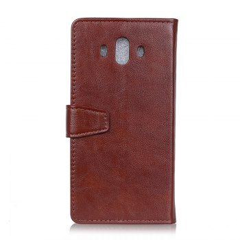 Wkae Vintage Crazy Leather Case for Huawei Mate 10 - BROWN