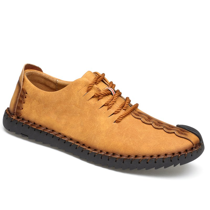 Lace-Up No Glue Pure manuel grandes chaussures - Jaune 41