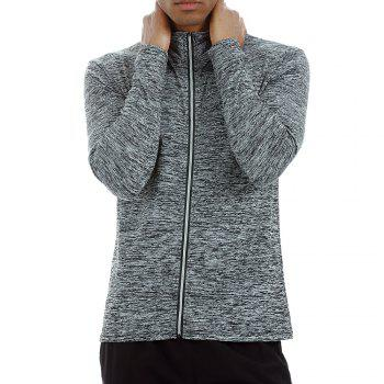 Quick-drying Sportswear Long-sleeved Coat Basketball Training Sports Clothes - GREY GREY