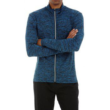 Quick-drying Sportswear Long-sleeved Coat Basketball Training Sports Clothes - NAVY L