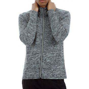 Quick-drying Sportswear Long-sleeved Coat Basketball Training Sports Clothes - GREY L
