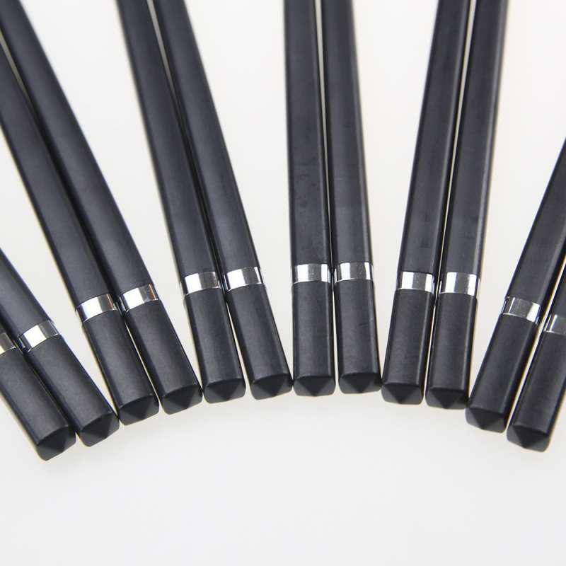 Suncha Chopsticks with Metal Ring - BLACK