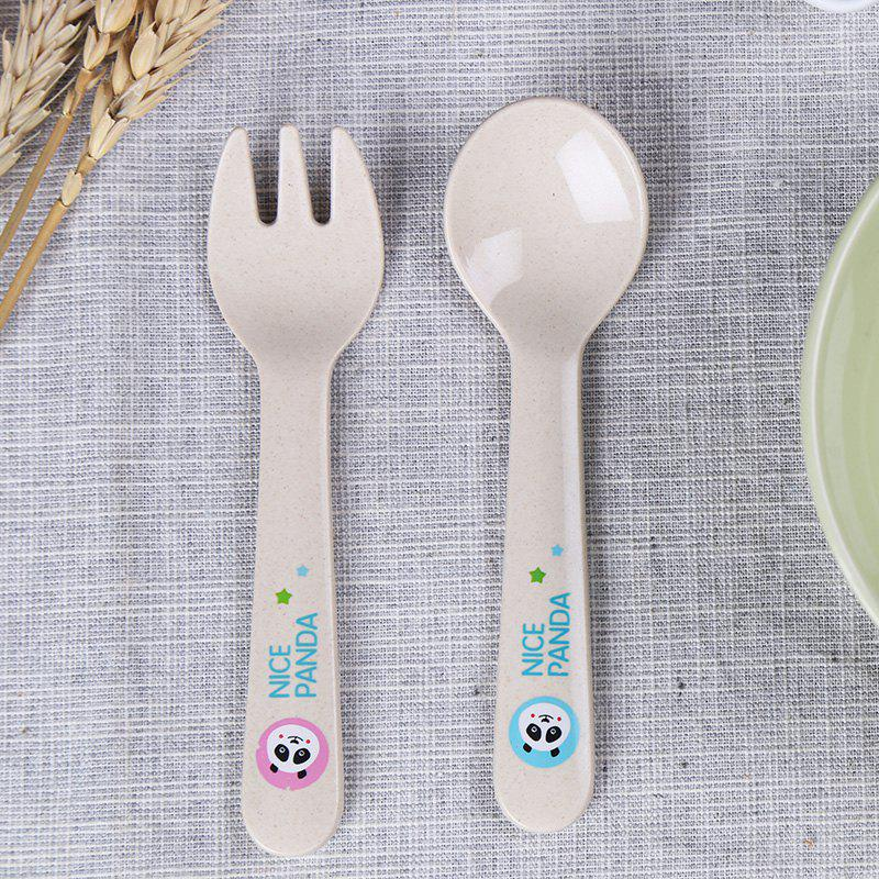 Suncha Rice Husk Fork and Spoon Tableware Set - LIGHT YELLOW