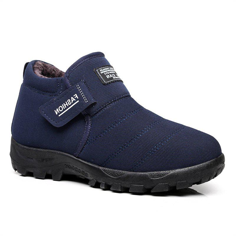 Men's Wear Warm and Leisure Cotton Shoes - BLUE 42