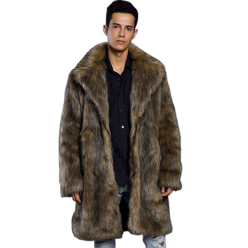 Fur Coat Plus Size Turndown Collar Long Coat 2017 winter new clothes to overcome the coat of women in the long reed rabbit hair fur fur coat fox raccoon fur collar