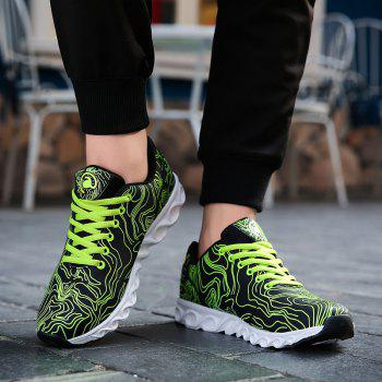Men Casual Fashion Running Walking Basketball Leisure Shoes Male Breathable Walking Sneakers - GREEN GREEN