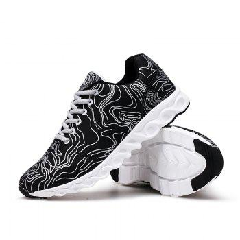 Men Casual Fashion Running Walking Basketball Leisure Shoes Male Breathable Walking Sneakers - BLACK BLACK