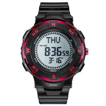 POPART POP831 Men Fashionable Mulitifunciton Waterproof Sports Wristwatch for Male - RED RED