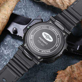 POPART POP831 Men Fashionable Mulitifunciton Waterproof Sports Wristwatch for Male -  RED