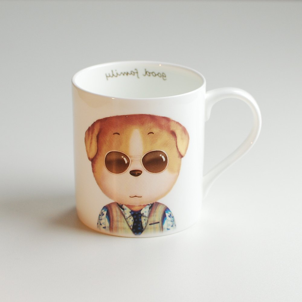 350ML Cartoon Creative Dog Series Cup - COLORMIX