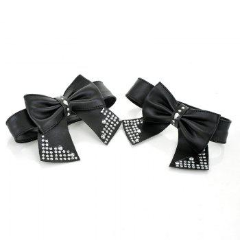 Sweet Bows Martin'S Boots Low Heel - BLACK 39