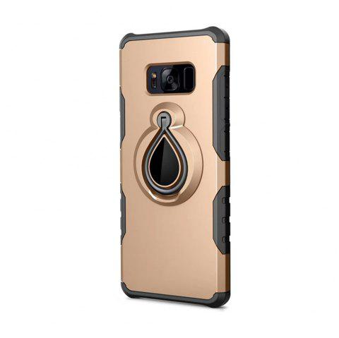 Case for Samsung Galaxy S8 Metal Ring Holder Combo Phone Bag Luxury Shockproof - GOLDEN