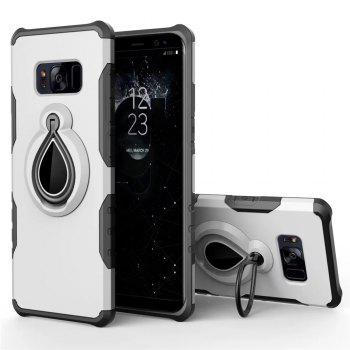 Case for Samsung Galaxy S8 Metal Ring Holder Combo Phone Bag Luxury Shockproof - WHITE