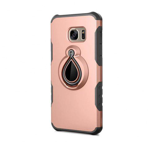 Case for Samsung Galaxy S7 Edge Metal Ring Holder Combo Phone Bag Luxury Shockproof - ROSE GOLD