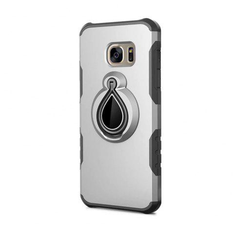 Case for Samsung Galaxy S7 Edge Metal Ring Holder Combo Phone Bag Luxury Shockproof - SILVER