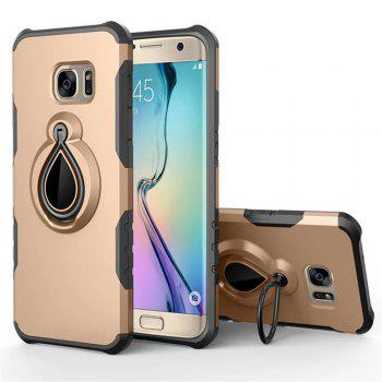 Case for Samsung Galaxy S7 Edge Metal Ring Holder Combo Phone Bag Luxury Shockproof - GOLDEN