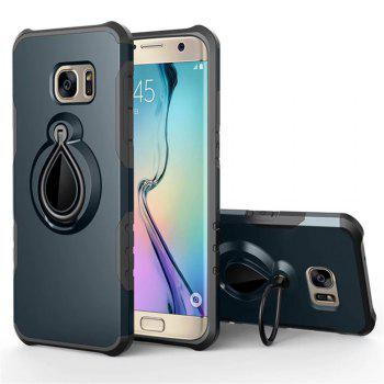 Case for Samsung Galaxy S7 Edge Metal Ring Holder Combo Phone Bag Luxury Shockproof - CADETBLUE