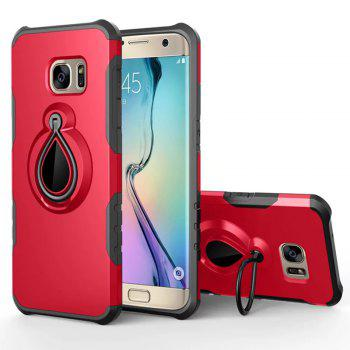 Case for Samsung Galaxy S7 Metal Ring Holder Combo Phone Bag Luxury Shockproof - RED