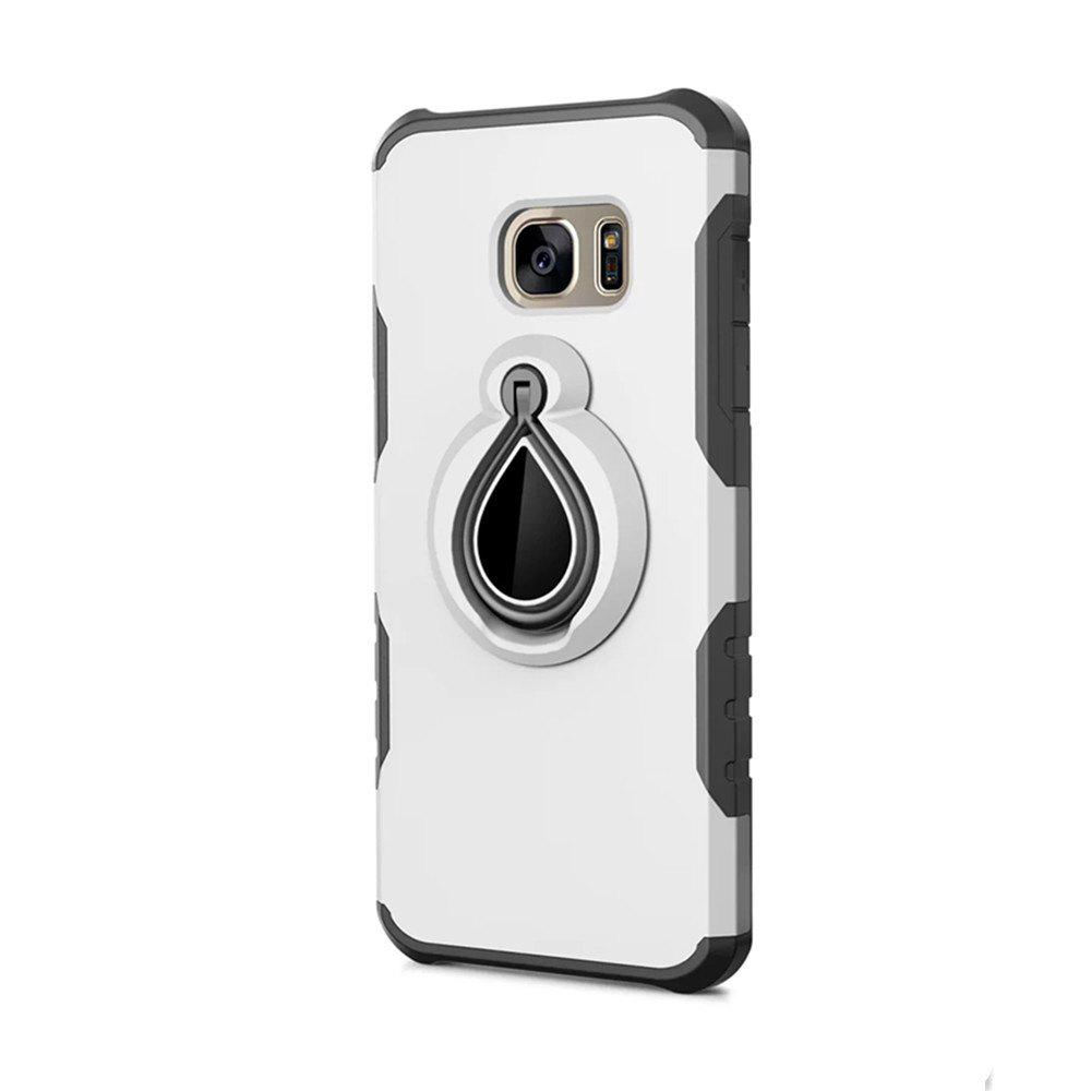 Case for Samsung Galaxy S7 Metal Ring Holder Combo Phone Bag Luxury Shockproof - WHITE