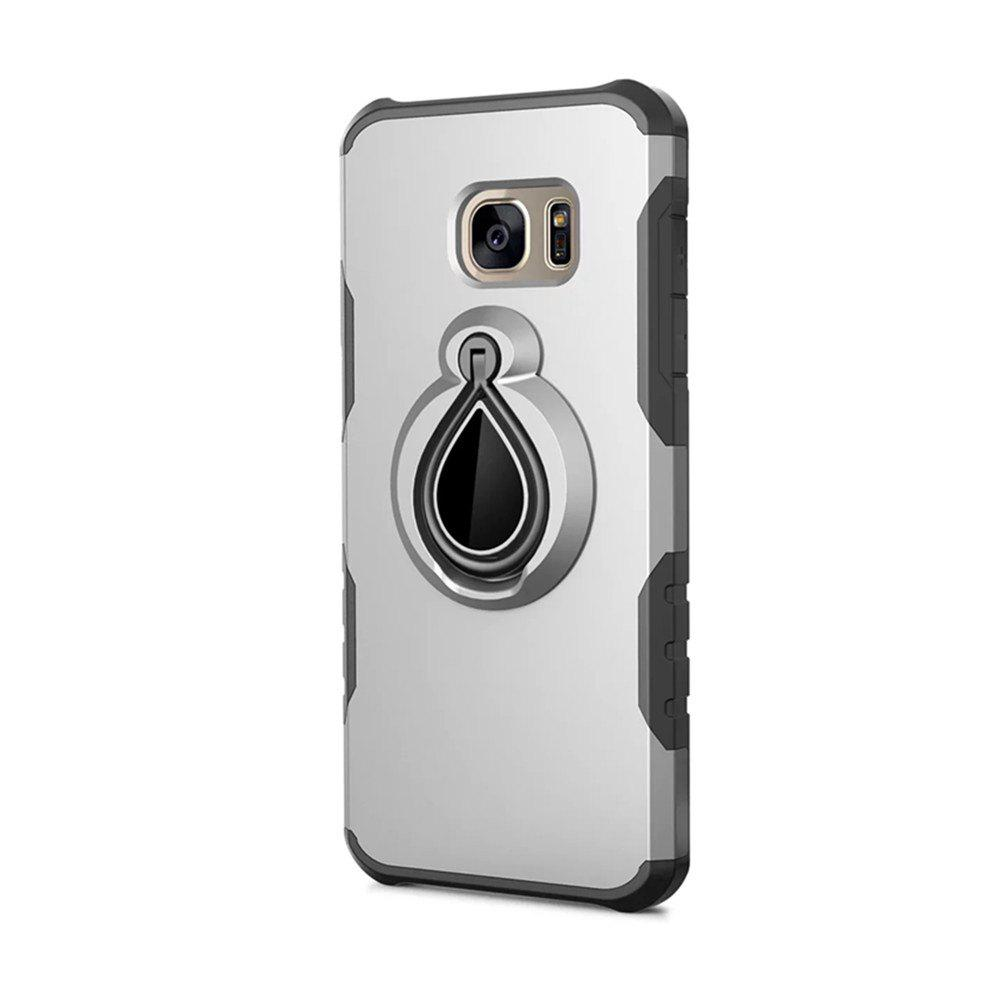 Case for Samsung Galaxy S7 Metal Ring Holder Combo Phone Bag Luxury Shockproof - SILVER