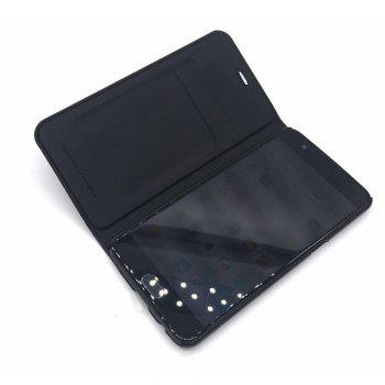 Luxury PU Leather Business Flip Cover Bag Smart Phone Case for One Plus 3 T - BLACK