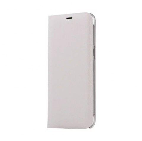 Flip PU Leather Case Back Cover Card Slot Capa for Samsung Galaxy S8 Plus - WHITE