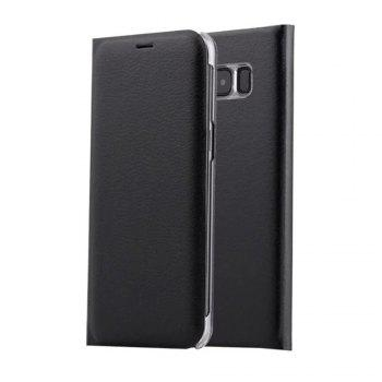 Flip PU Leather Case Back Cover Card Slot Capa for Samsung Galaxy S8 Plus - BLACK