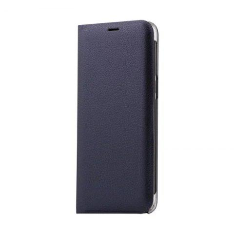 Flip PU Leather Case Back Cover Card Slot Capa for Samsung Galaxy S8 - CERULEAN