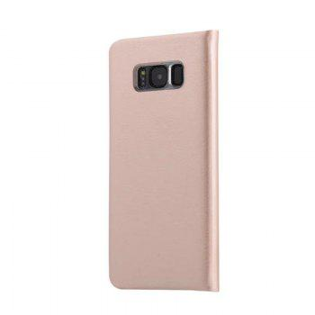 Flip PU Leather Case Back Cover Card Slot Capa for Samsung Galaxy S8 - GOLDEN