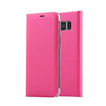 Flip PU Leather Case Back Cover Card Slot Capa for Samsung Galaxy S8 - ROSE RED