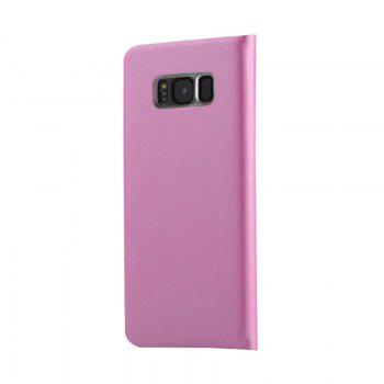 Flip PU Leather Case Back Cover Card Slot Capa for Samsung Galaxy S8 - PINK