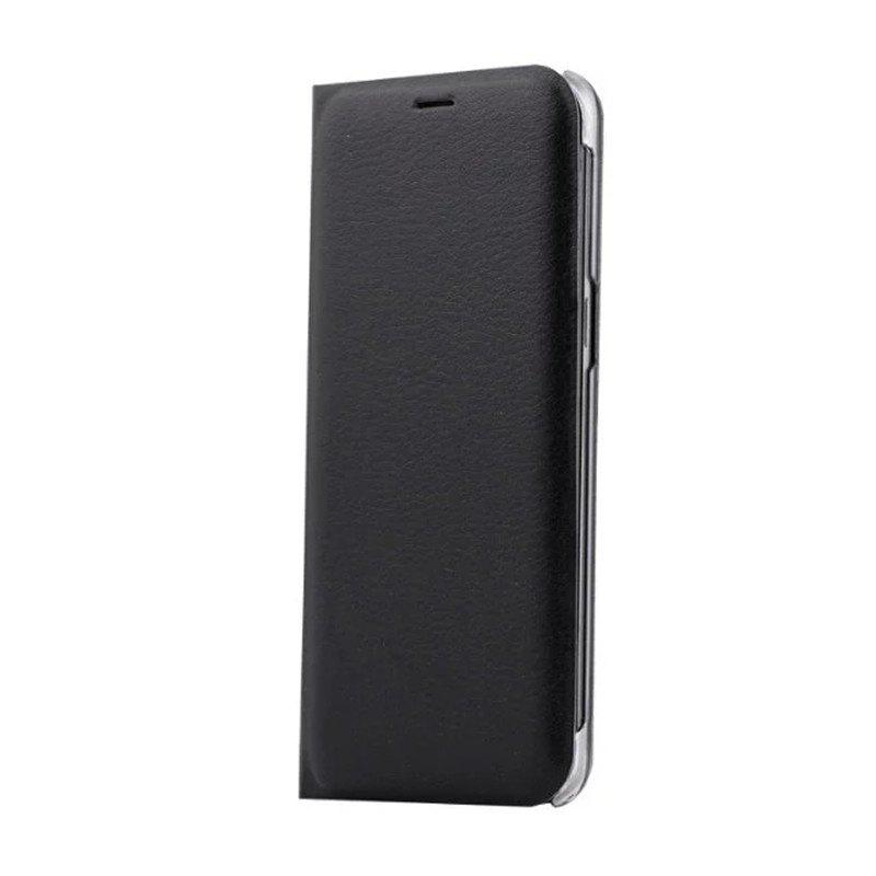 Flip PU Leather Case Back Cover Card Slot Capa for Samsung Galaxy S8 - BLACK