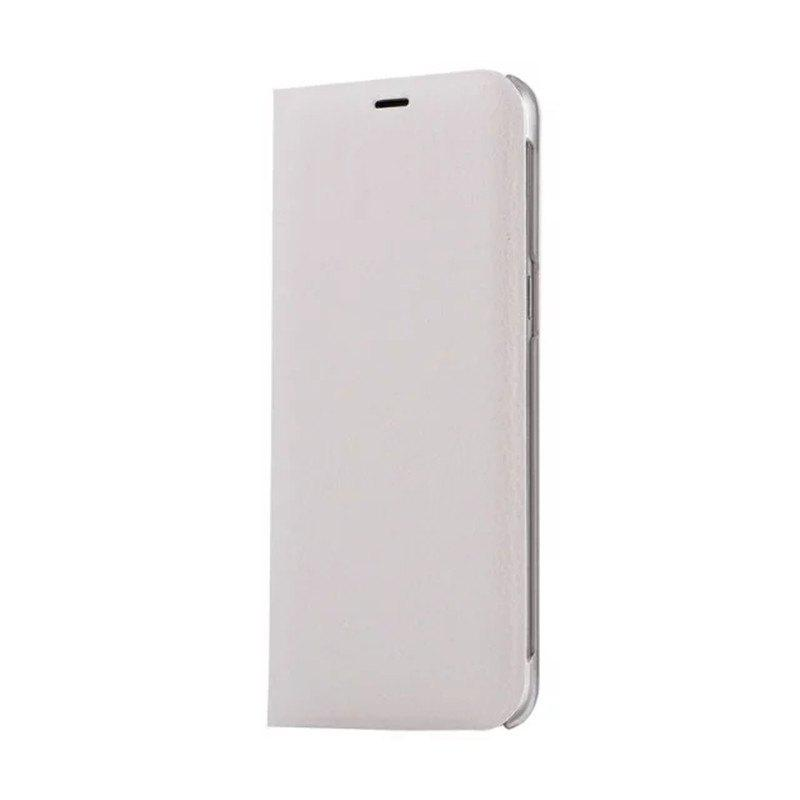 Flip PU Leather Case Back Cover Card Slot Capa for Samsung Galaxy S8 - WHITE