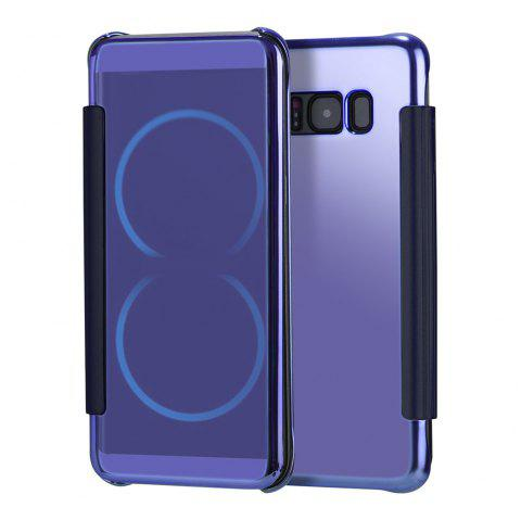 Mirror Plating Flip Ultra Thin Cover for Samsung Galaxy S8 Plus Case - PURPLE