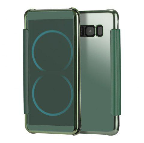 Mirror Plating Flip Ultra Thin Cover for Samsung Galaxy S8 Plus Case - GREEN