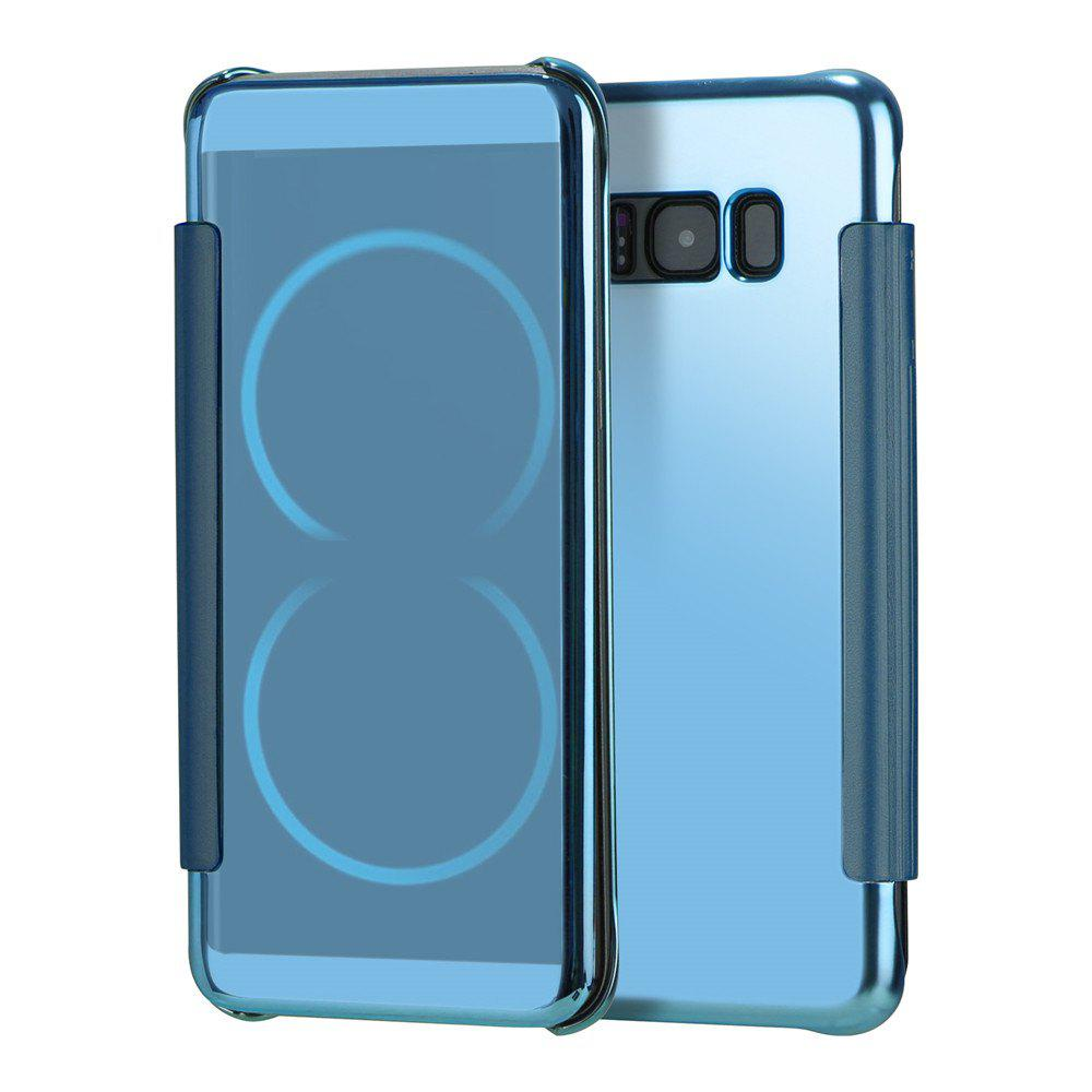 Mirror Plating Flip Ultra Thin Cover for Samsung Galaxy S8 Plus Case - BLUE